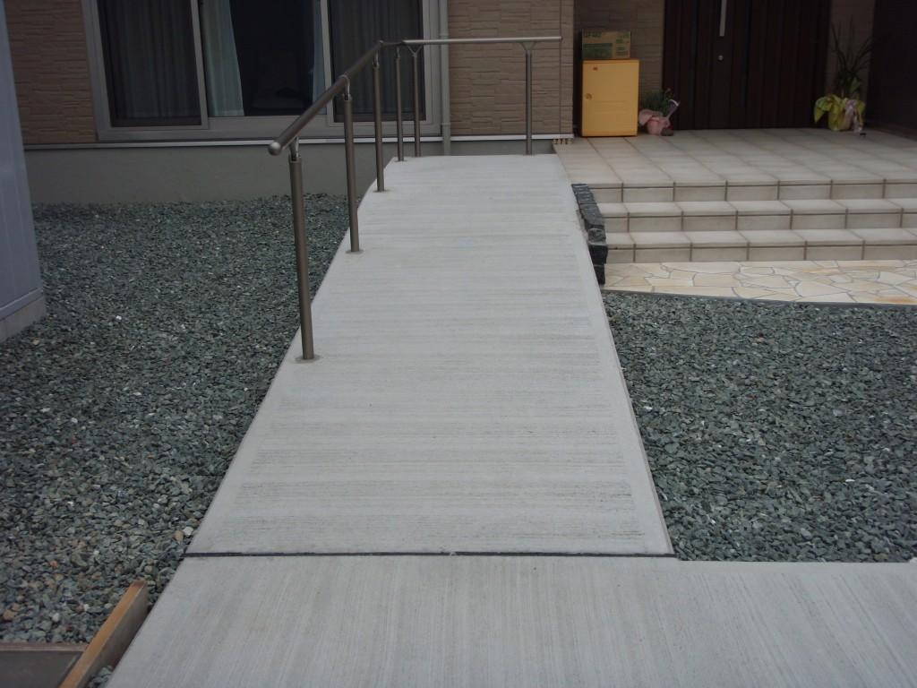 スロープ1(コンクリート1発仕上)